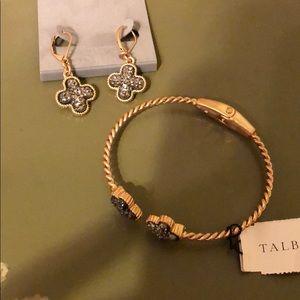 Talbot's bracelet and matching earrings